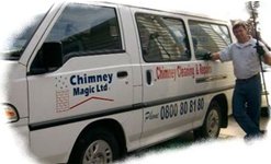 Alan with Chimney Magic Van