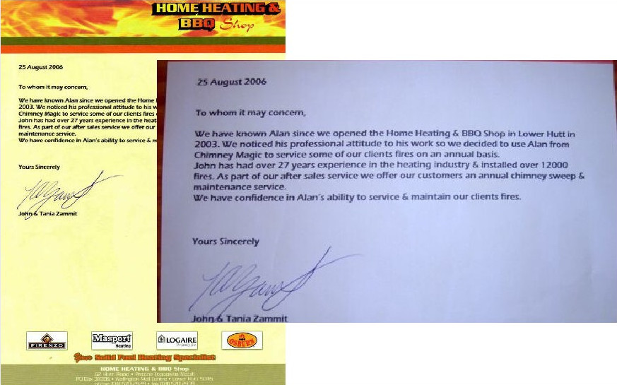 Home Heating and BBQ Shop testimonial
